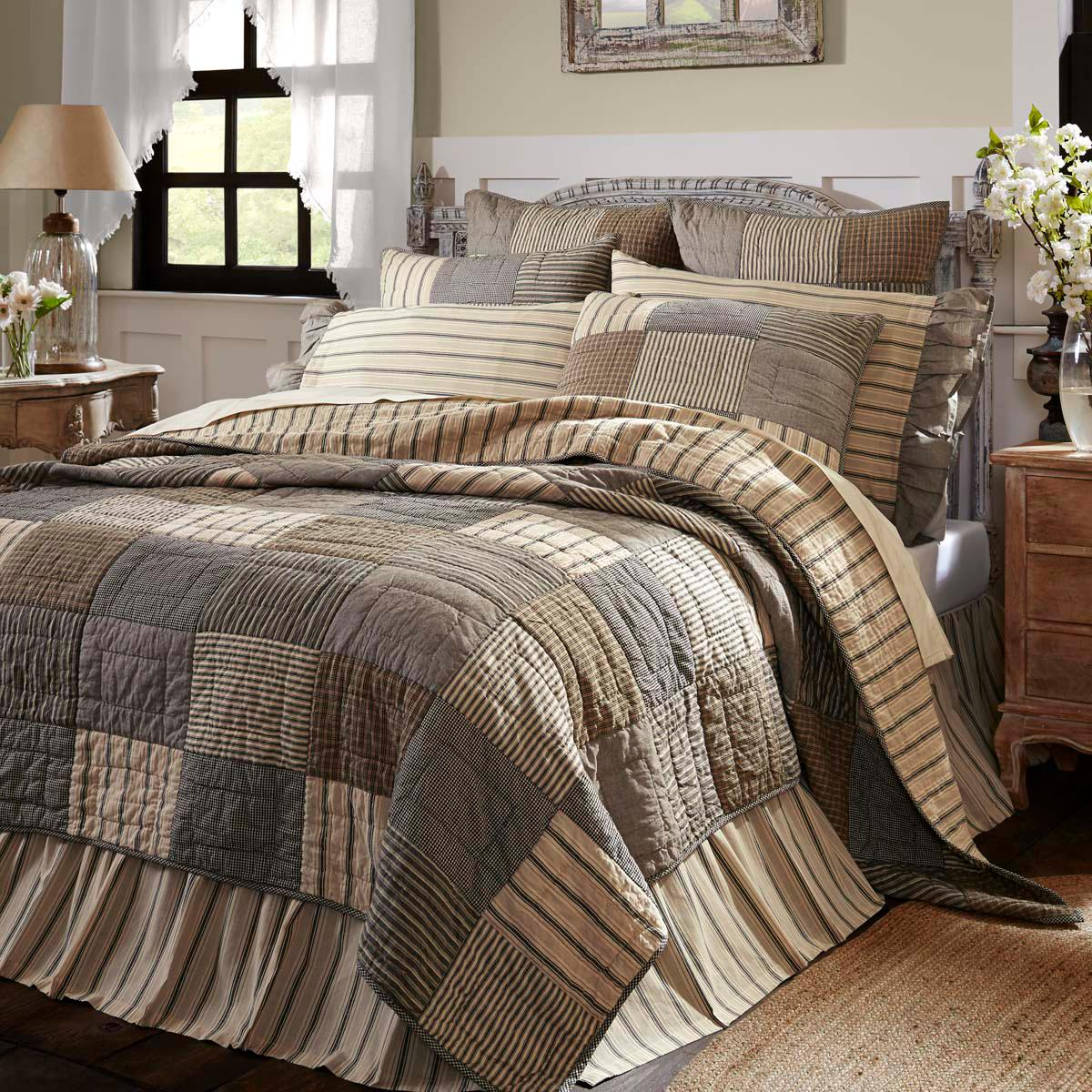 SAWYER QUILT -choose accessories-farmhouse bedding VHC