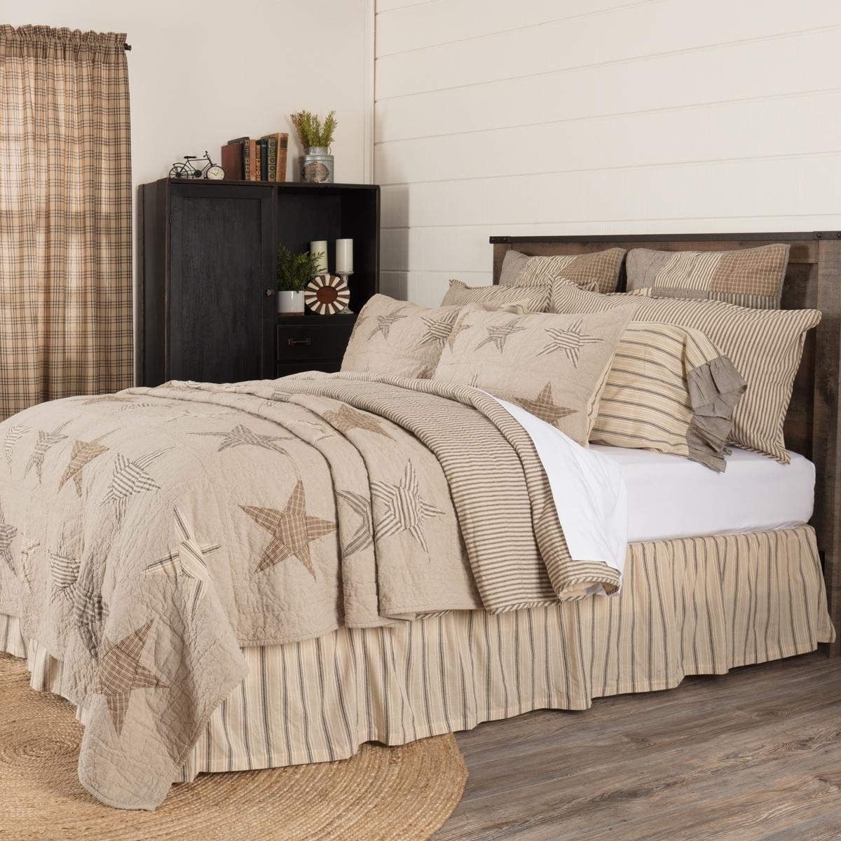 VHC BRANDS SAWYER MILL STAR CHARCOAL QUEEN, KING, LUXURY KIN