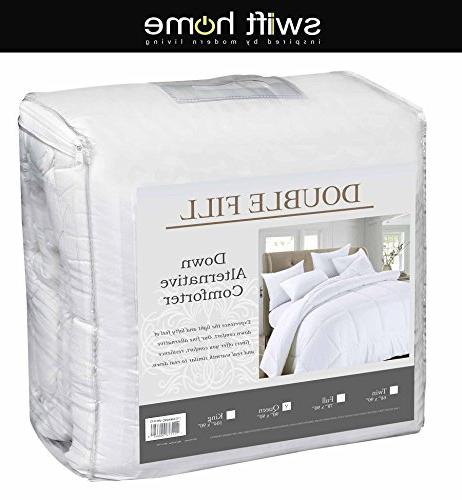 "Swift Home Soft Light-Warmth Goose Twin 68"" Indigo"