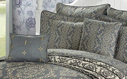 Home Soft Things Printed Mystic Queen, Charcoal