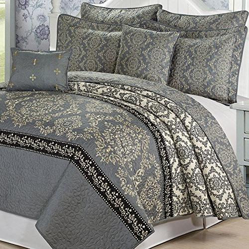 serenta printed microfiber mystic bedspread