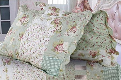 English Roses Quilt Cotton bedcover,coverlet, throw