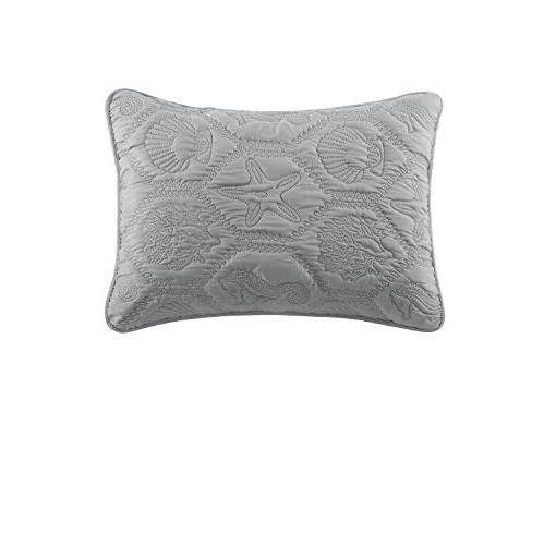 VCNY Home Shore Piece Quilt Queen, Grey