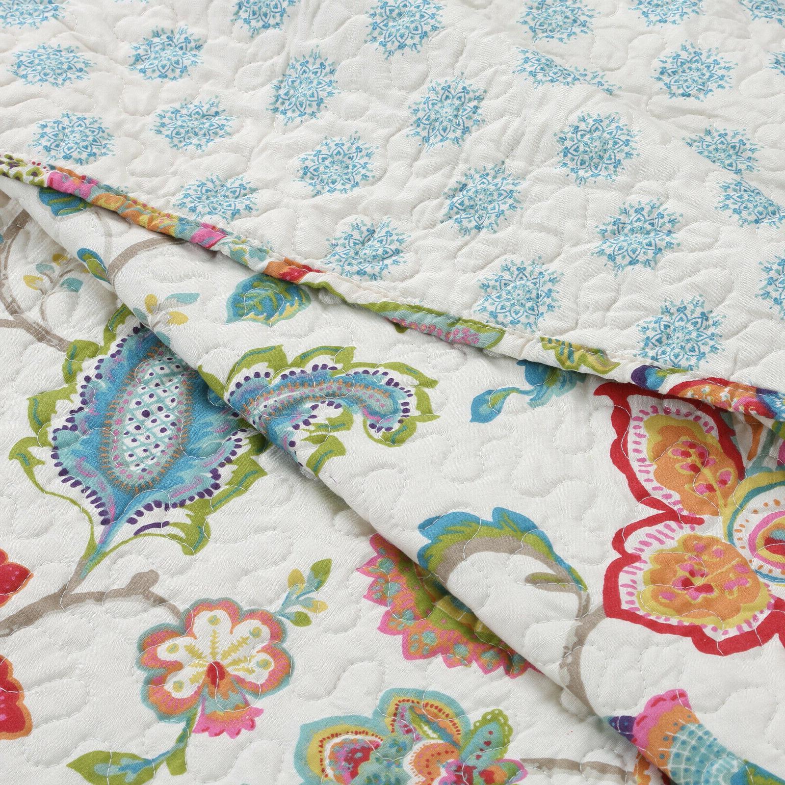 Spring 3-Piece Quilt Bedspread,