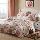 Single Queen King Bed Set Pillowcase Quilt Duvet Cover Cotto
