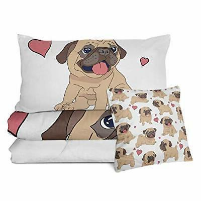 Sleepwish Set 3D Dog Twin Size Comforter Pieces
