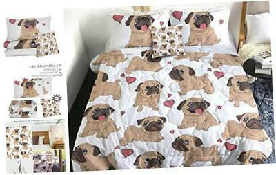 sleepwish puppy pug comforter set 3d dog