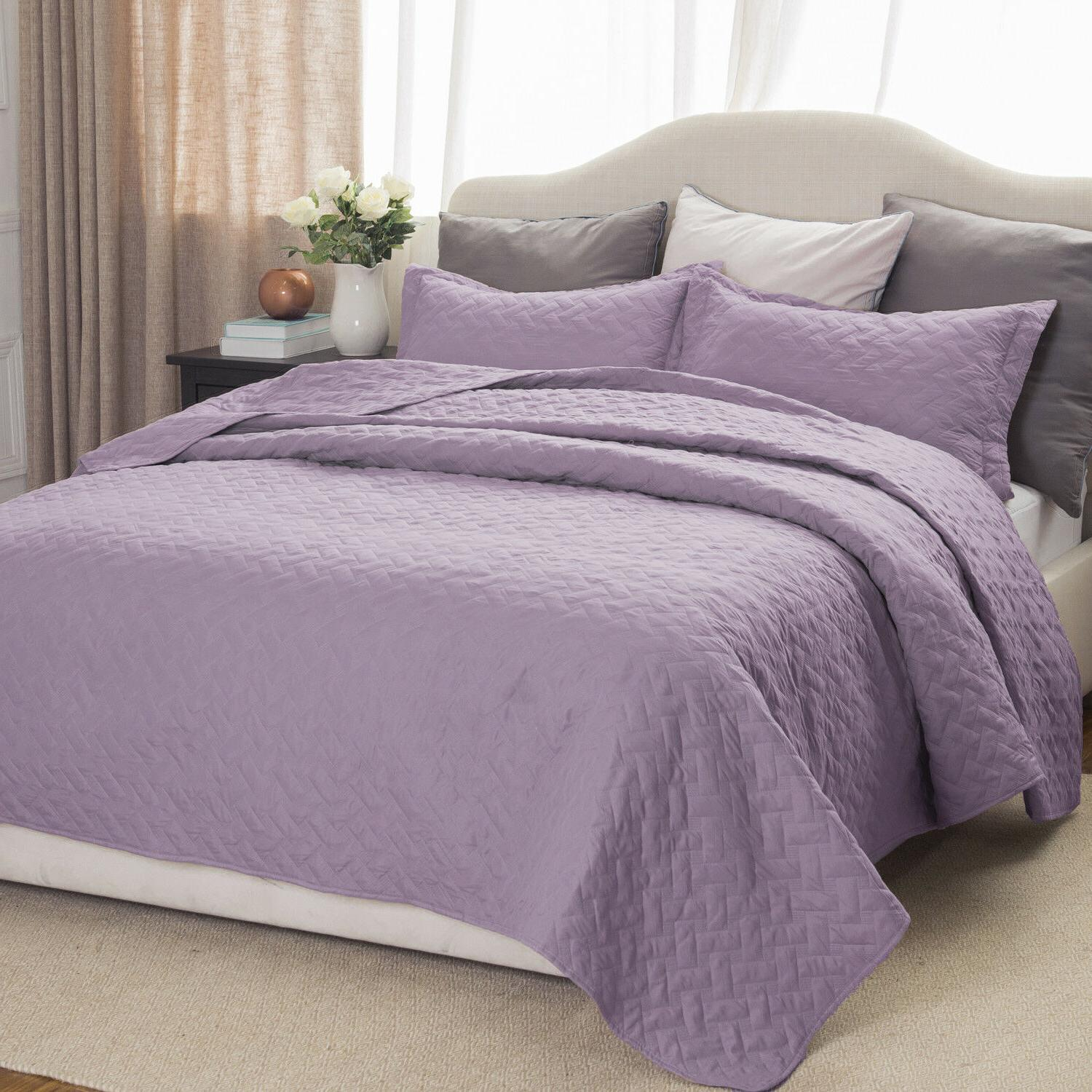 Bedsure Soft Basketweave Coverlet Set Color