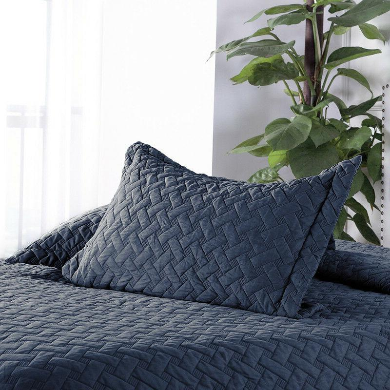 Bedsure Soft Piece Basketweave Coverlet Set Color