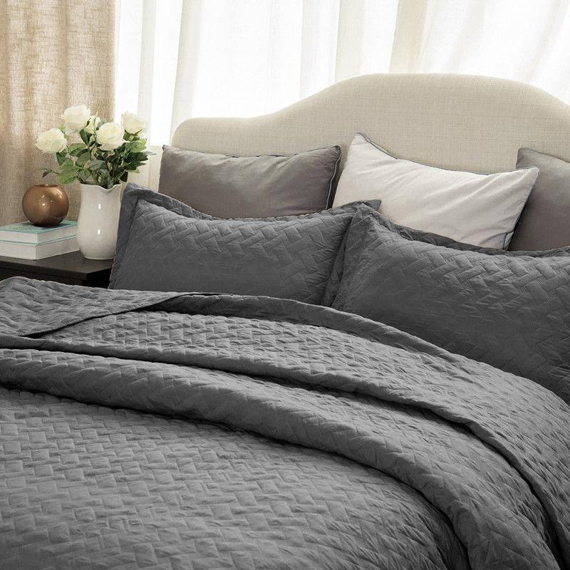 Bedsure Soft Piece Basketweave Set Lightweight Coverlet Color