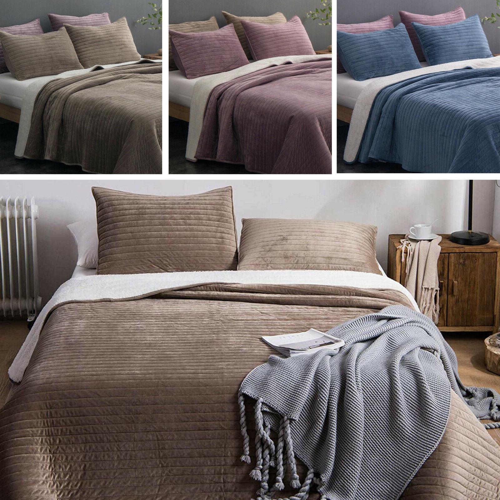 soft velvet sherpa flannel fleece bedding quilt