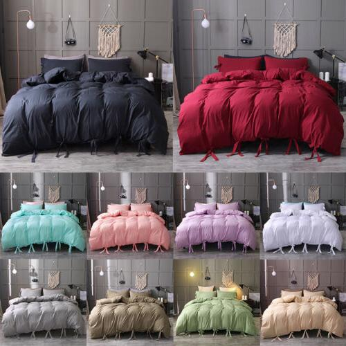 soft washed cotton blend comforter duvet cover