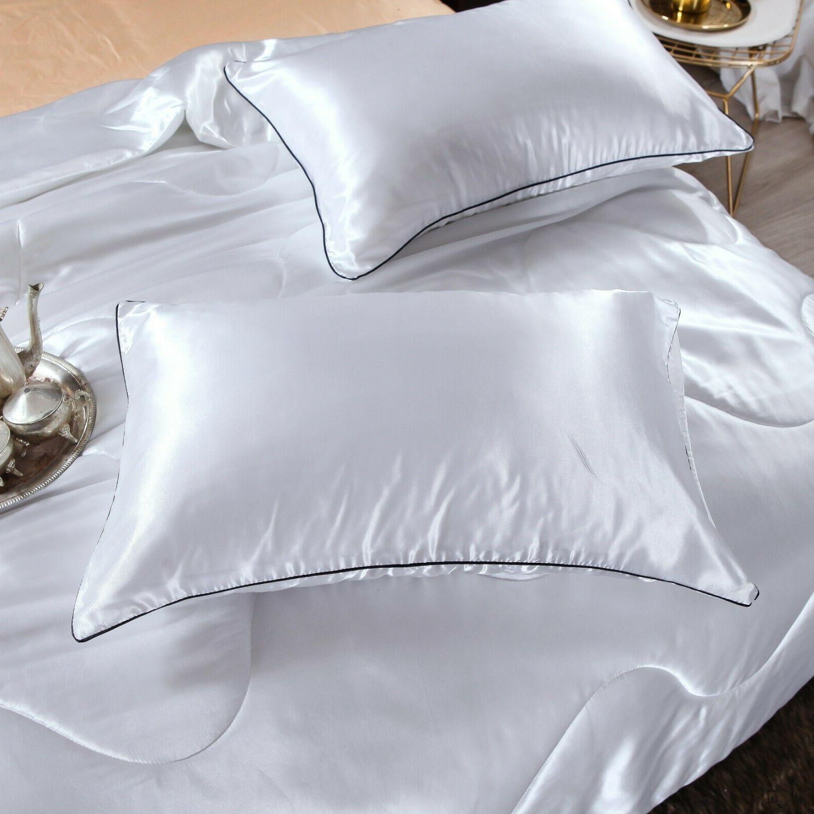 Solid Santin Quilt Soft Pillowcase