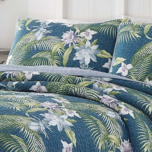 Tommy Bahama Southern Breeze Quilt Set, Blue