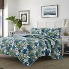 Tommy Bahama Southern Breeze Quilt Set, Full/Queen, Dark Blu