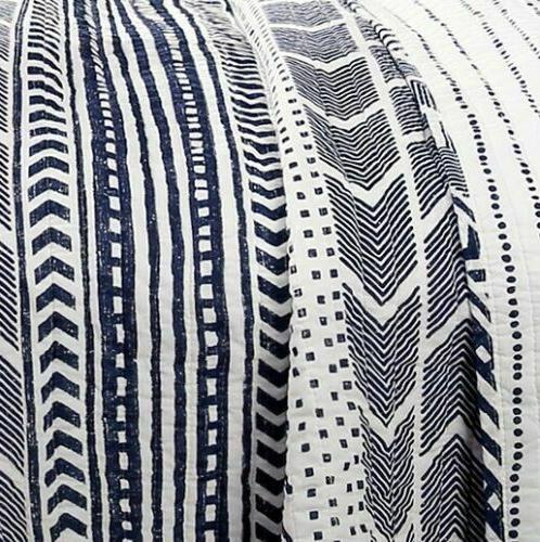 Southwest Quilt & Navy Reversible Bedding 3 Pieces