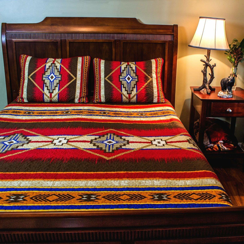 southwest design 3 piece quilt set