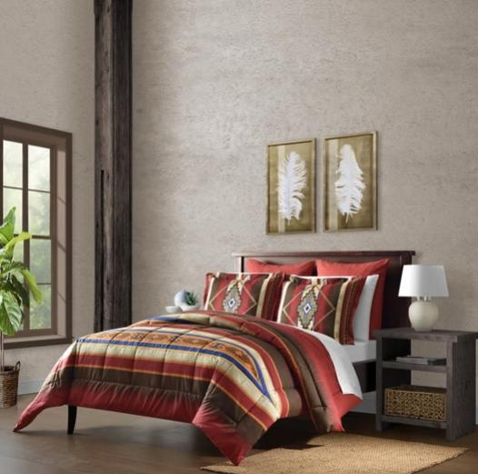 Southwest Reversible Comforter Quilt 5pc 4 Shams Bedding
