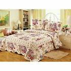 Spring Awakening 3 Piece Floral Reversible Quilt Set by Tach