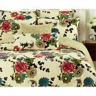 spring country 3 piece reversible quilt set