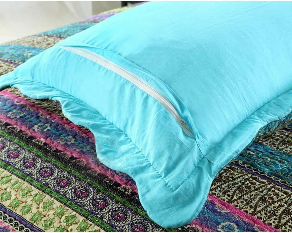 NEWLAKE Striped Jacquard Cotton Bedspread Quilt