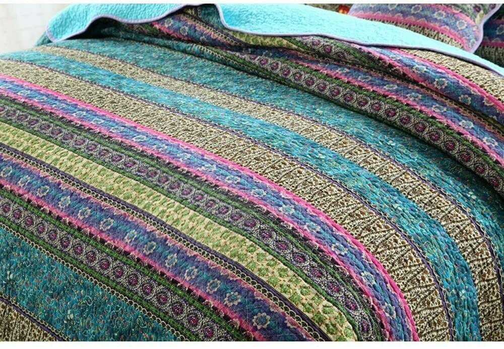 NEWLAKE Striped Cotton Quilt Sets,