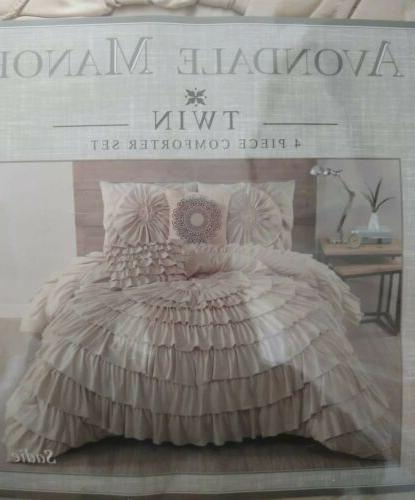 style sadie 4 piece comforter set twin