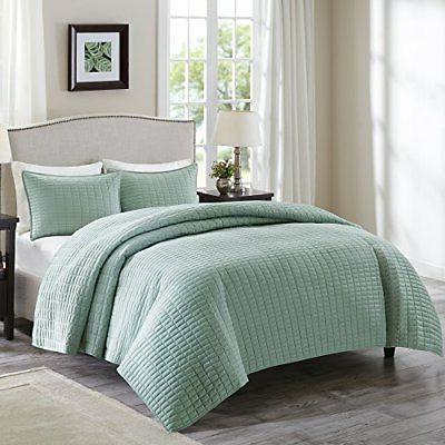 Summer Bedding Quilt Mini Bedspread Set 3 Pcs Full Queen Siz