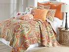 Sylvie King Quilt Set, Multi Paisley, Cotton