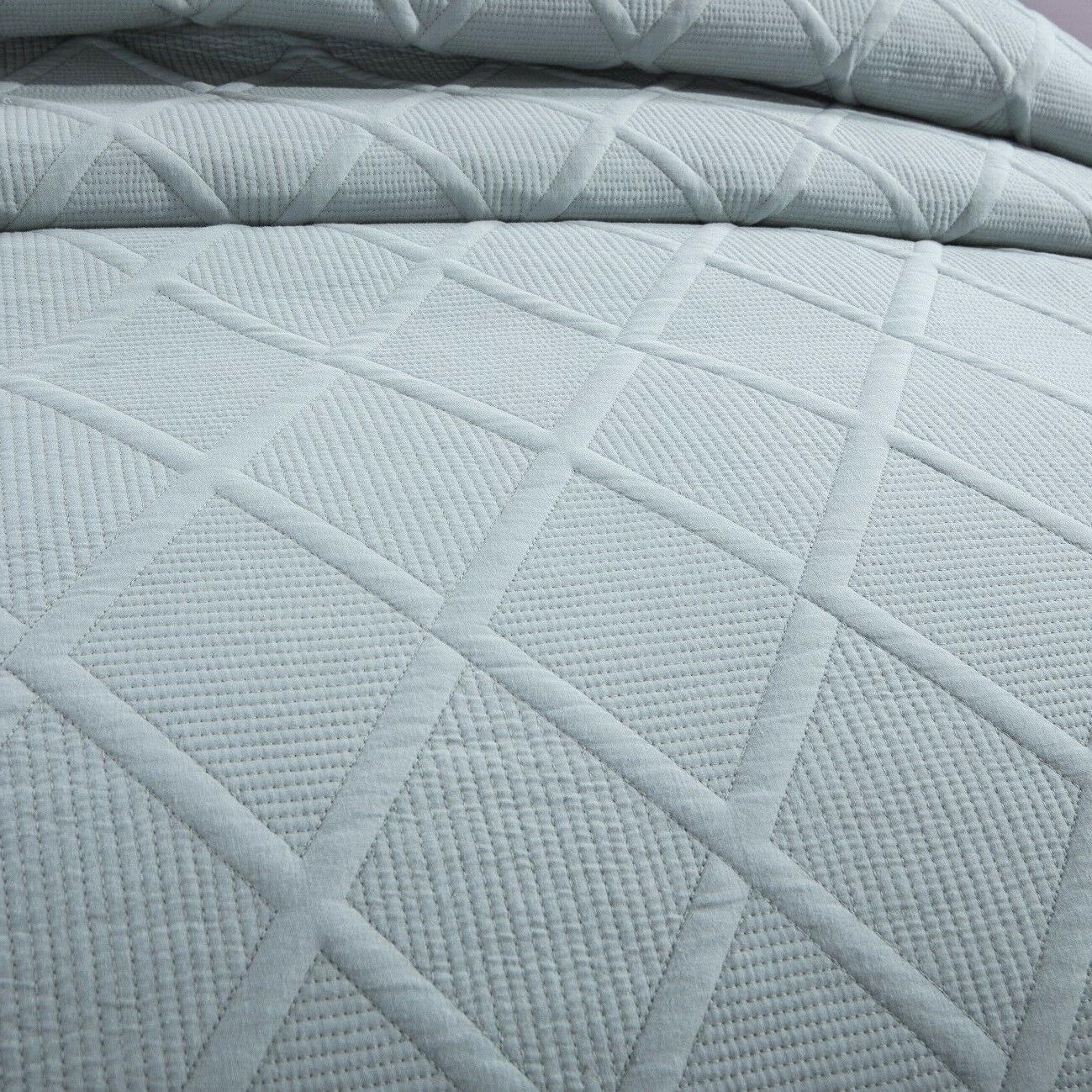 Tache Blue Cotton Light Coverlet Bedspread