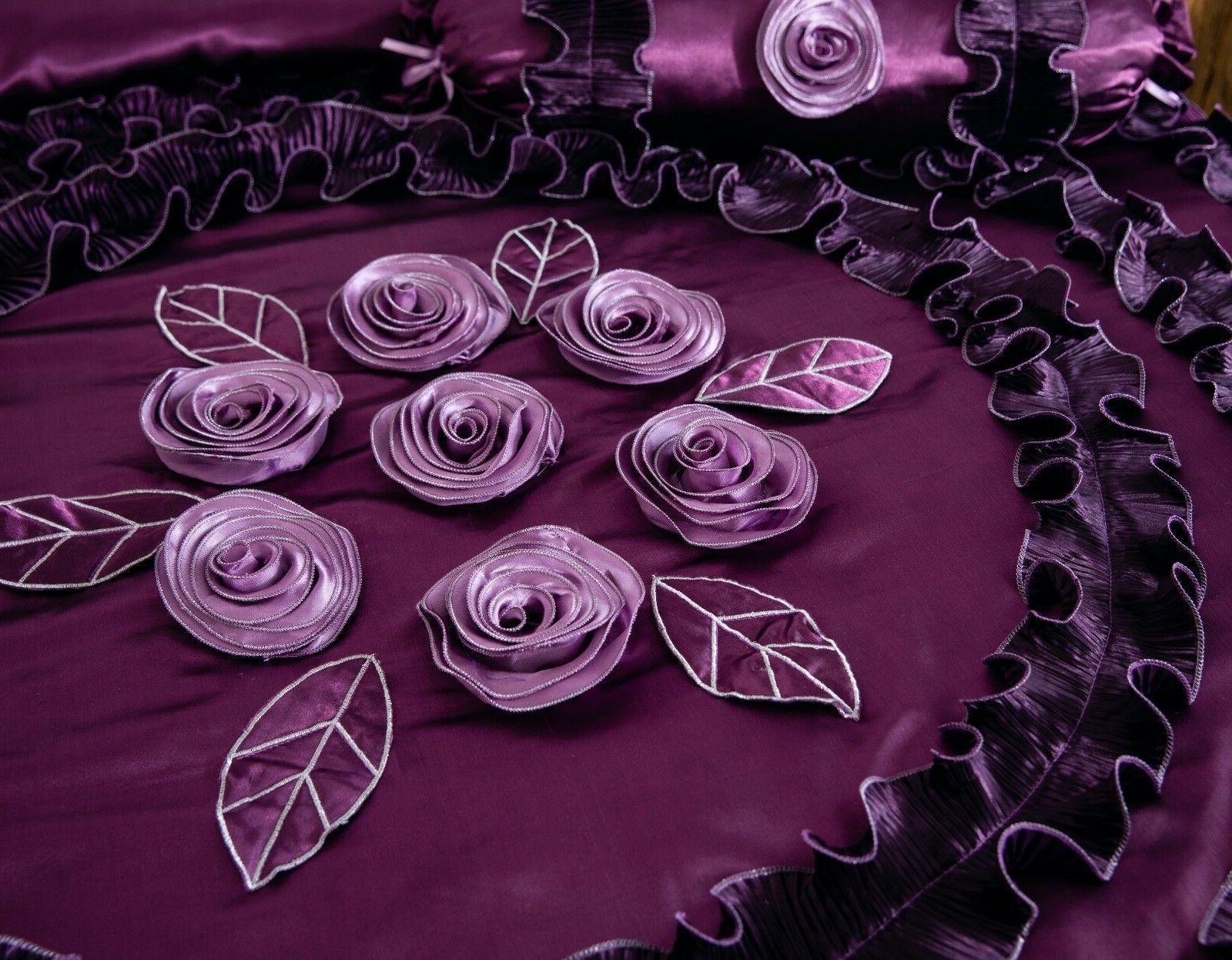 Tache Fancy Ruffles Purple Midnight Bedding