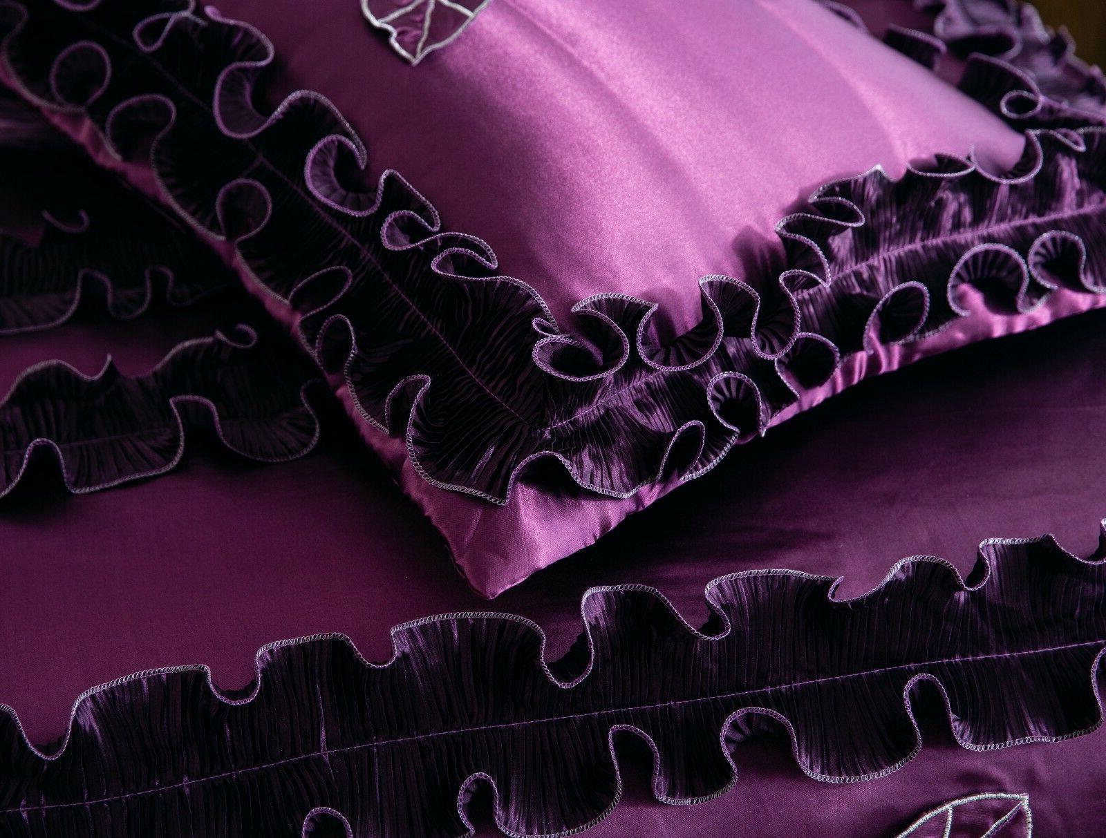 Tache Fancy Purple Midnight Bedding Set 6