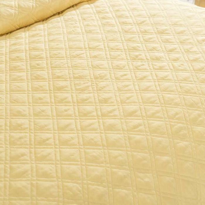 Tache Yellow Matelasse Buttercup Quilt