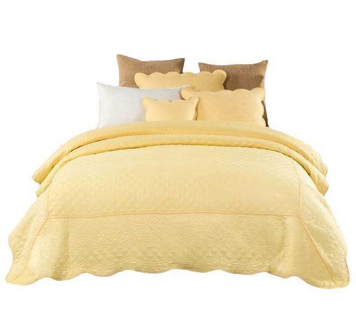 tache light yellow embroidery matelasse buttercup elegant