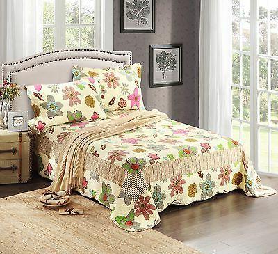 tache new oversize rainbow blooms reversible bedspread