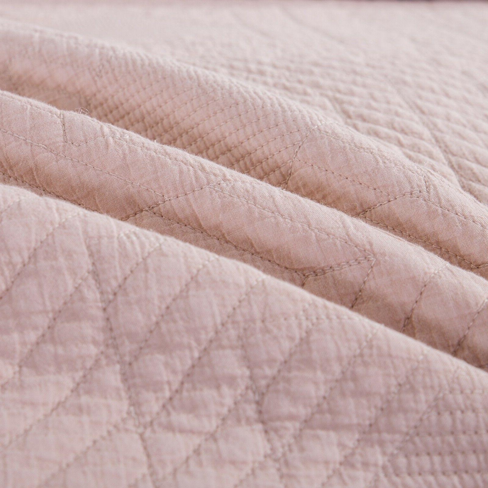 Tache Solid Blush Pastel Bohemian Bedspread
