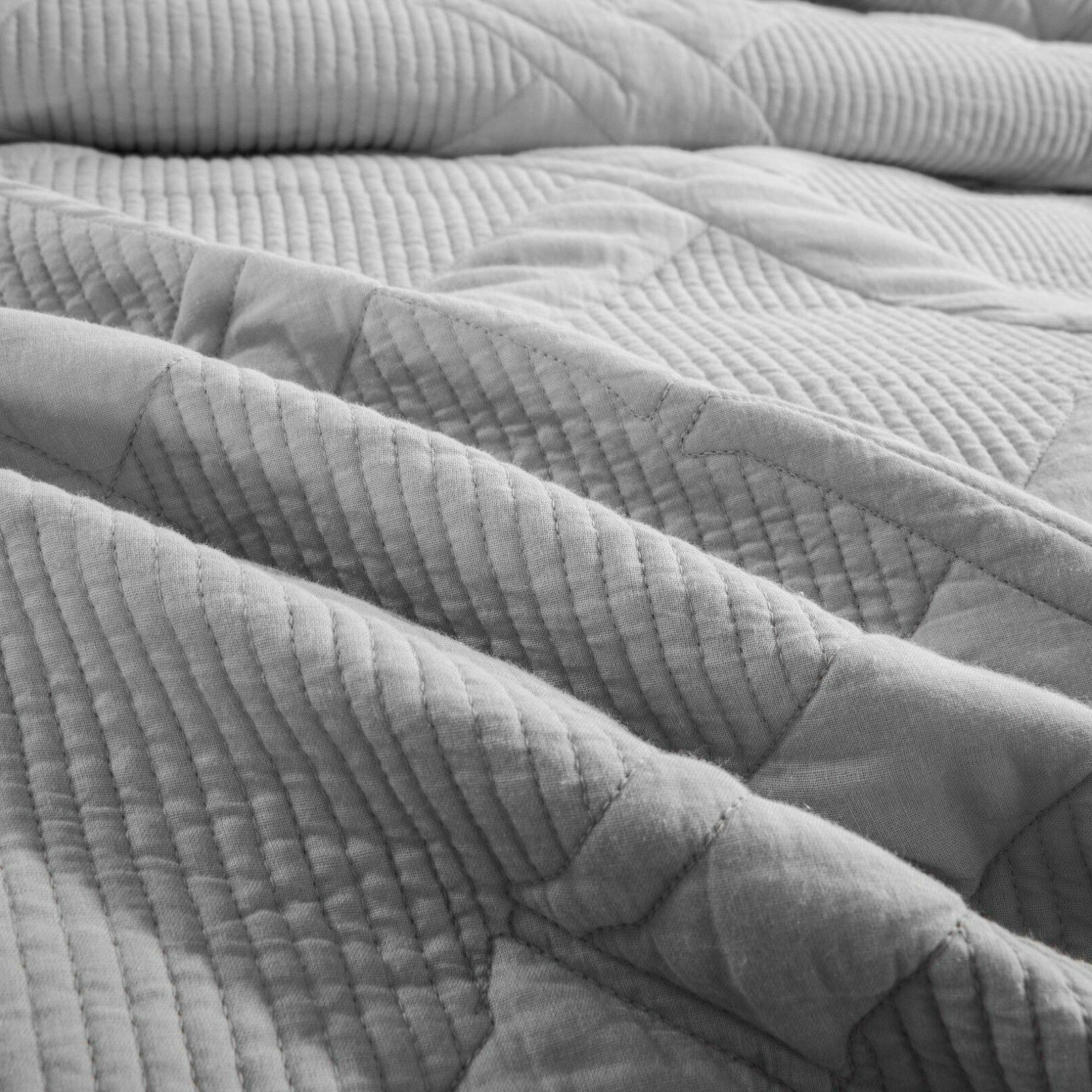 Tache Solid Light Silver Coverlet Bedspread