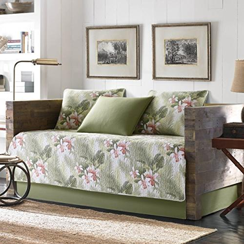 Tommy Bahama Tropical Orchid 5-Piece Daybed Cover Set Twin Medium Green
