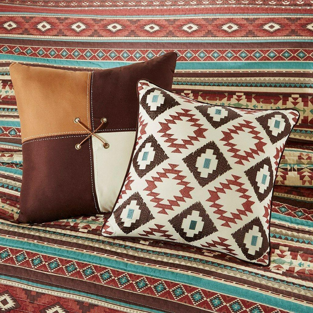 Southwest Turquoise Native American 6 Quilt Shams & Pillows