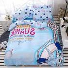 Twin Queen King Bed Set Pillowcase Quilt Duvet Cover Blue Se