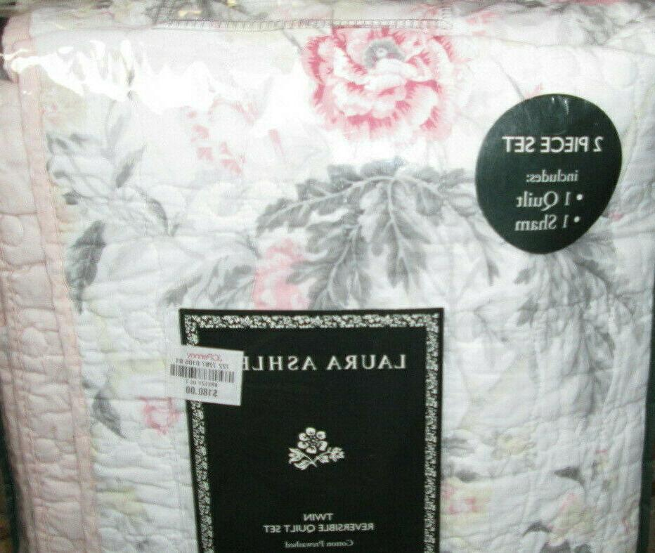 180 twin quilt and sham set 2pc