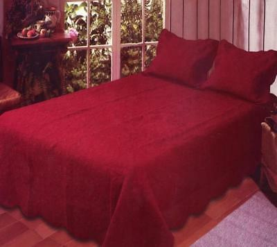 Twin Size Brick Red Quilt Set 2 Pc Sham Cotton Harmonious Mi