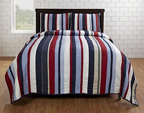 cameron stripe quilt set