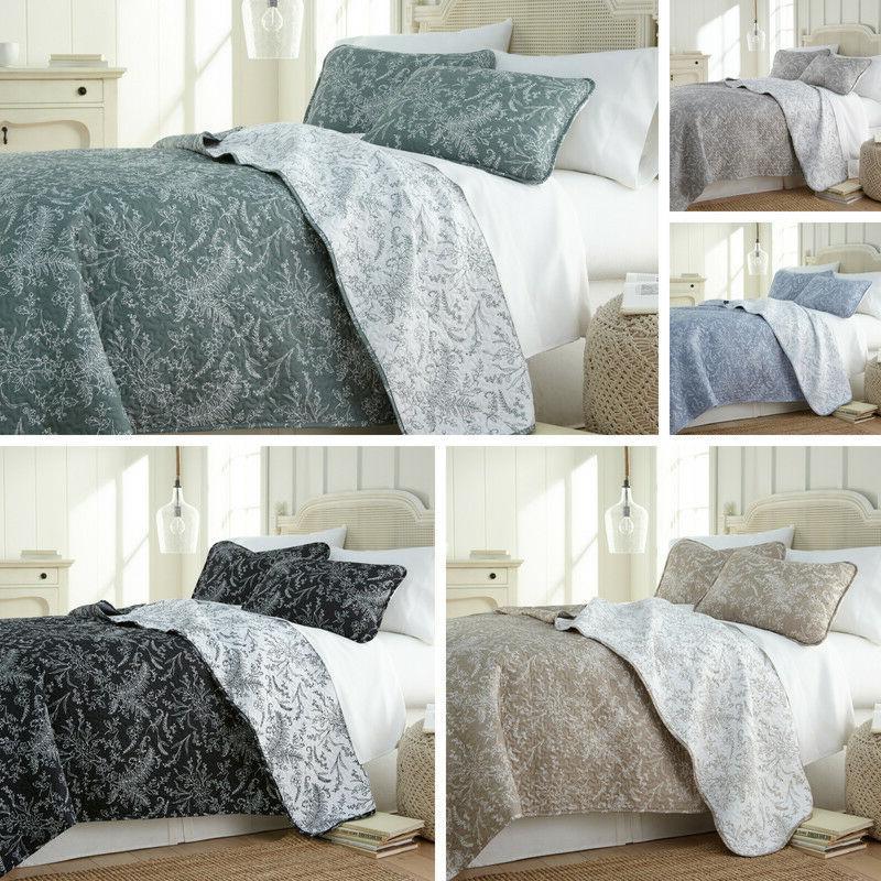 ultra soft lightweight reversible floral patterned 3