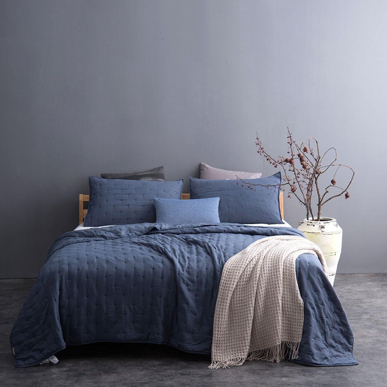 ultra soft stone washed quilt set 100