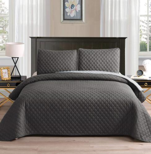 ultrasonic reversible 3 piece king size quilt