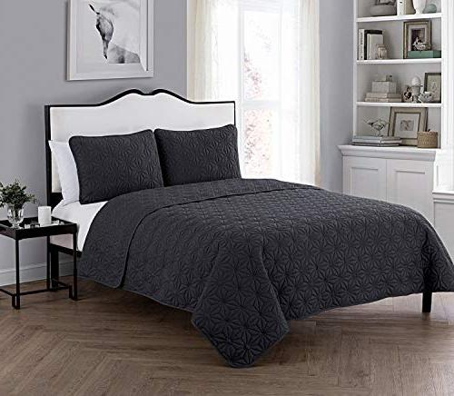 vcny home kaleidoscope embossed polyester piece quilt set su