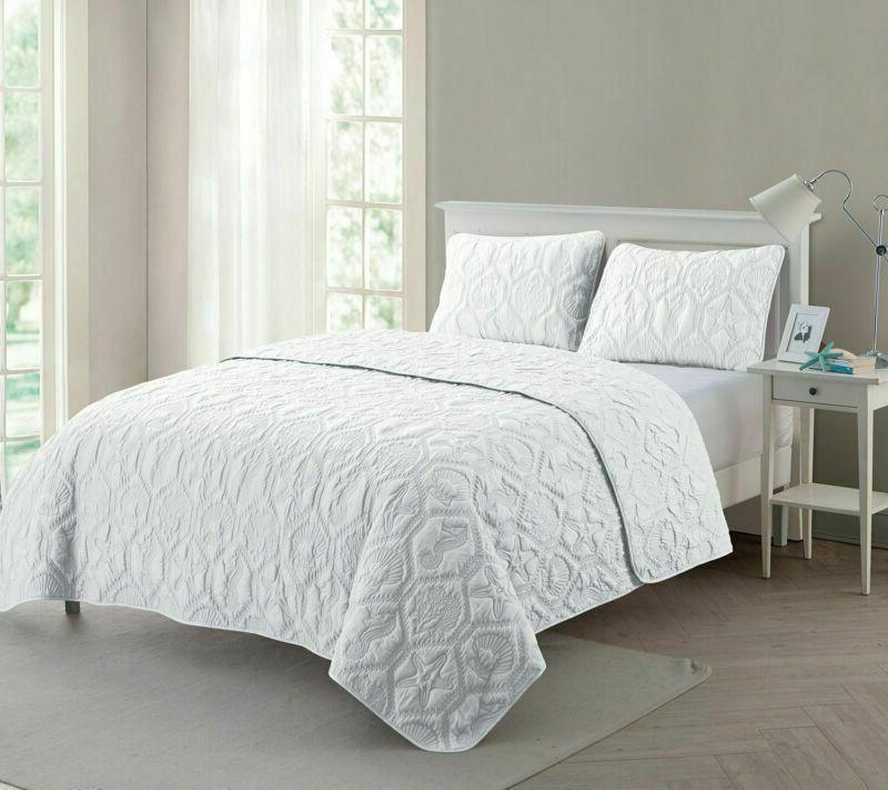 Vcny 3 Super Soft Quilt Set, Wrinkle Resis