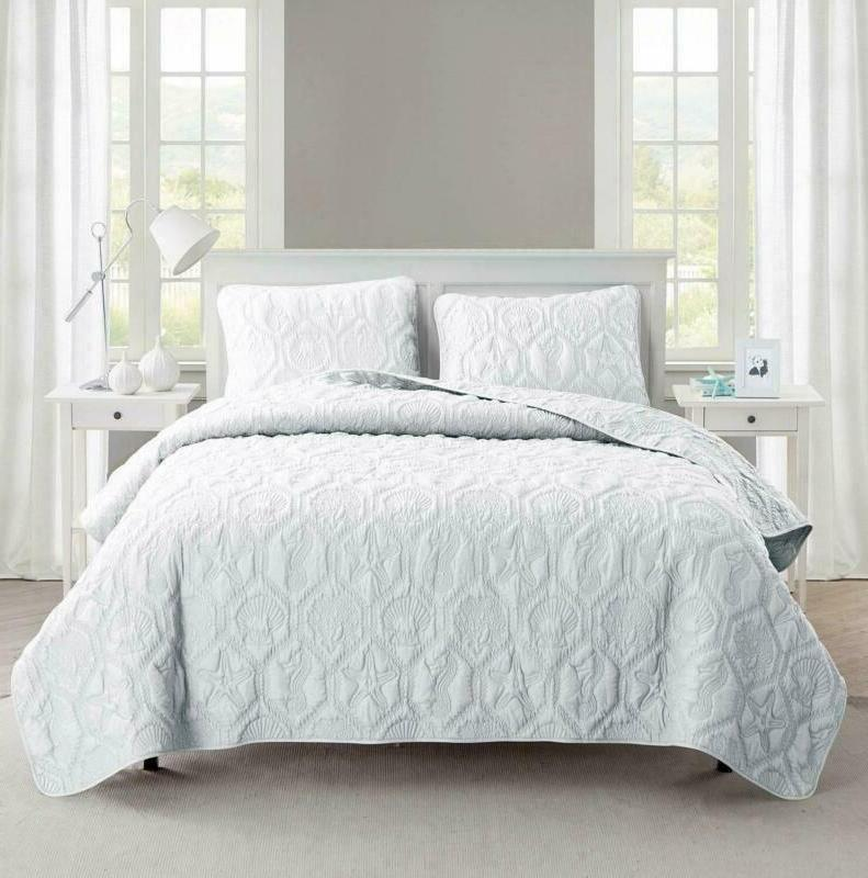 vcny home shore polyester 3 piece quilt