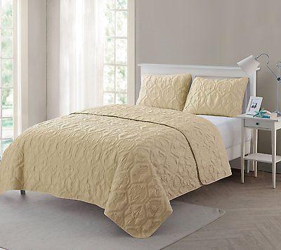 vcny home shore polyester piece quilt set super soft wrinkle